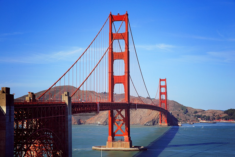 one of the five best things you should do in san francisco is to visit the golden gate bridge as shown in the image